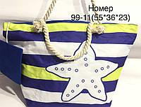 Стильная имиджевая летняя пляжная сумка полосатая со Звёздой