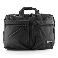 Сумка-портфель для ноутбука компьютера текстильная черная Epol 7027