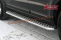 Пороги с листом d 42 (компл. 2 шт) Союз 96 на Hyundai Santa Fe 2006-2009