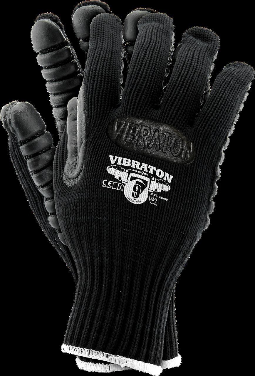 Противовибрационные перчатки VIBRATON B рабочие, Reis Польша