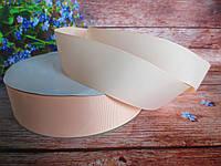 Лента репсовая однотонная, цвет ПЕРСИКОВЫЙ, 3,8-4 см.