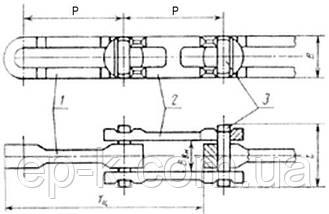 Цепи Р2-80-106 тяговые разборные, фото 3