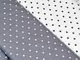 Сатин (хлопковая ткань) на белом фоне черный значок, фото 2