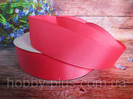 Лента репсовая однотонная, цвет КОРАЛЛОВЫЙ, 3,8-4 см.