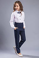 """Модные школьные  брюки с завышеной талией для девочки """"Морган""""116-158р."""