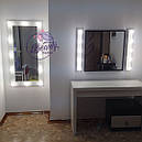 Навесное большое зеркало в примерочную с подсветкой, фото 2