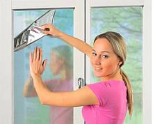 Солнцезащитная металлизированная пленка на окно 80*100 см.
