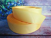 Лента репсовая однотонная, цвет КУКУРУЗНЫЙ, 3,8-4 см.