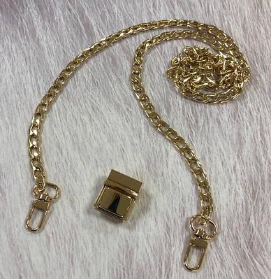 Набор фурнитуры для сумки в цвете золото