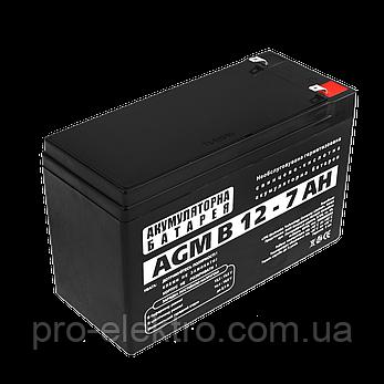 Аккумуляторная батарея LogicPower AGM B 12-7 AH, фото 2
