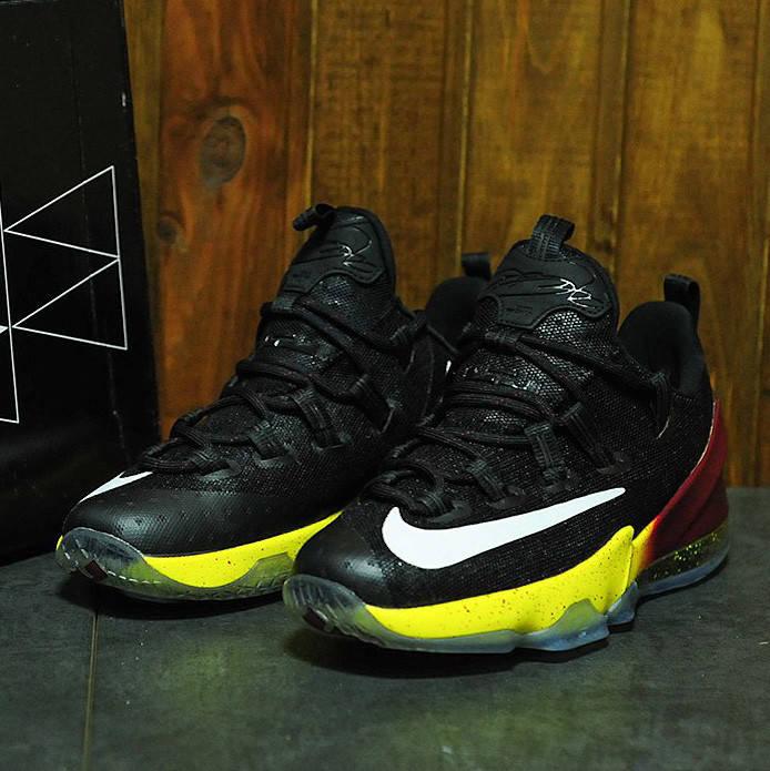 Nike LeBron 13 Low JR Smith Black Red Yellow (реплика)
