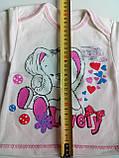 Ясельная кофта 3518 НАЧЕС рост 68,74, размер 48 ЗАЙКА молочный, фото 2