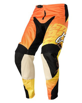 "Брюки Alpinestars CHARGER текстиль orange/red/yellow ""XS""(28)"