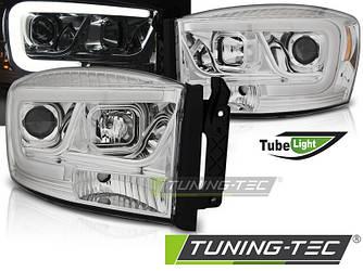 Фары тюнинг оптика Dodge Ram рестайлинг (06-08) хром