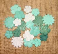 Набор цветов Dovecraft Paper Blossoms - Aqua