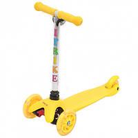 Детский самокат трехколесный BB 3-013-4-H Yellow 08062019