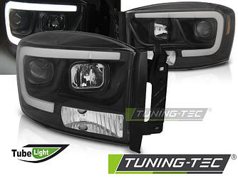 Фары тюнинг оптика Dodge Ram рестайлинг (06-08) черные