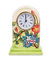 """Фарфоровые настольные часы """"Колибри в саду"""" (Pavone) JP-97/ 7"""