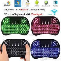 Клавиатура  KEYBOARD wireless  MWK08/i8 LED touch с подсветкой , фото 1