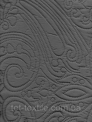 Покрывало атласное с наволочками Elway (темно-серое), фото 2
