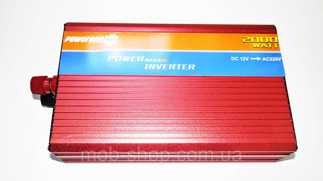 Инвертор Power Inverter Powerone 2000W 12V в 220V с функцией плавного пуска