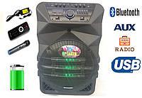 Портативная акустика K5-15 / 200W (USB/Bluetooth/FM/1 радиомикрофон), фото 1