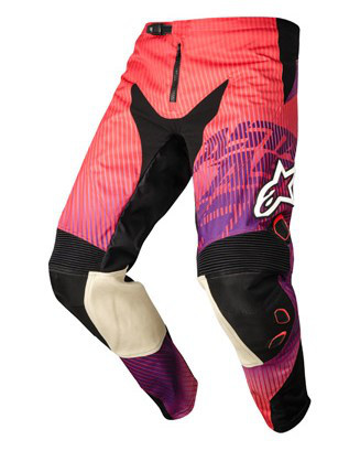 "Брюки Alpinestars CHARGER текстиль red/purple ""XL""(36)"