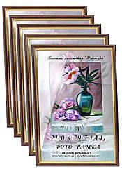 Фоторамки купить оптом, рамка пластиковая для фото А4 (21х29,7) для дипломов, сертификатов, грамот цвет бронза