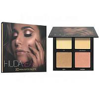 Хайлайтер Huda Beauty Highlighter Palette 4 цвета  (Палитра В), фото 1