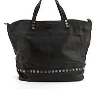 Вместительная стильная прочная кожаная качественная женская сумка GALANTY art. 83018-2 Турция черная, фото 1