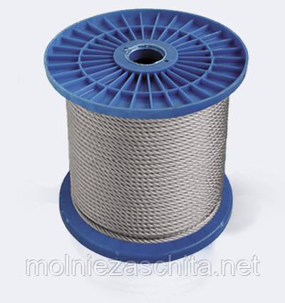 Трос стальной оцинкованный (6х7) ф3 мм