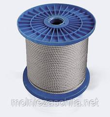 Трос стальной оцинкованный (1х19) ф1 мм