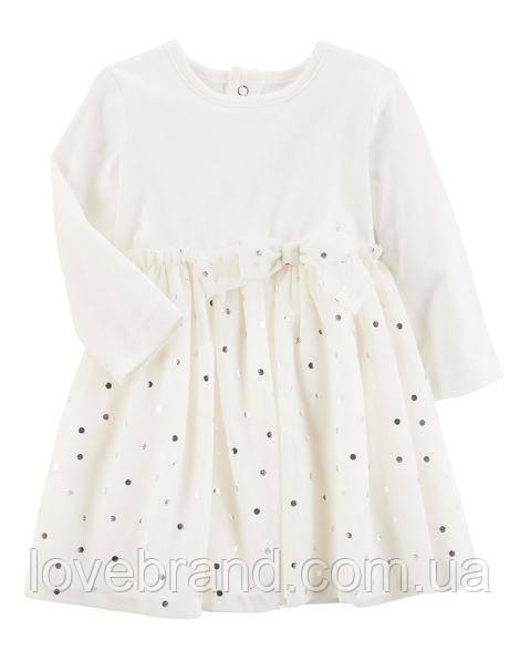 Нарядное масляное платье Carter's для девочки 24 мес/83-86см