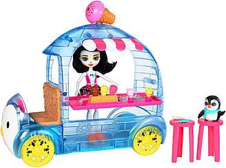 Enchantimals Preena Penguin WHEEL FROZEN TREATS Енчантималс Фургон с мороженым Пингвин Прина
