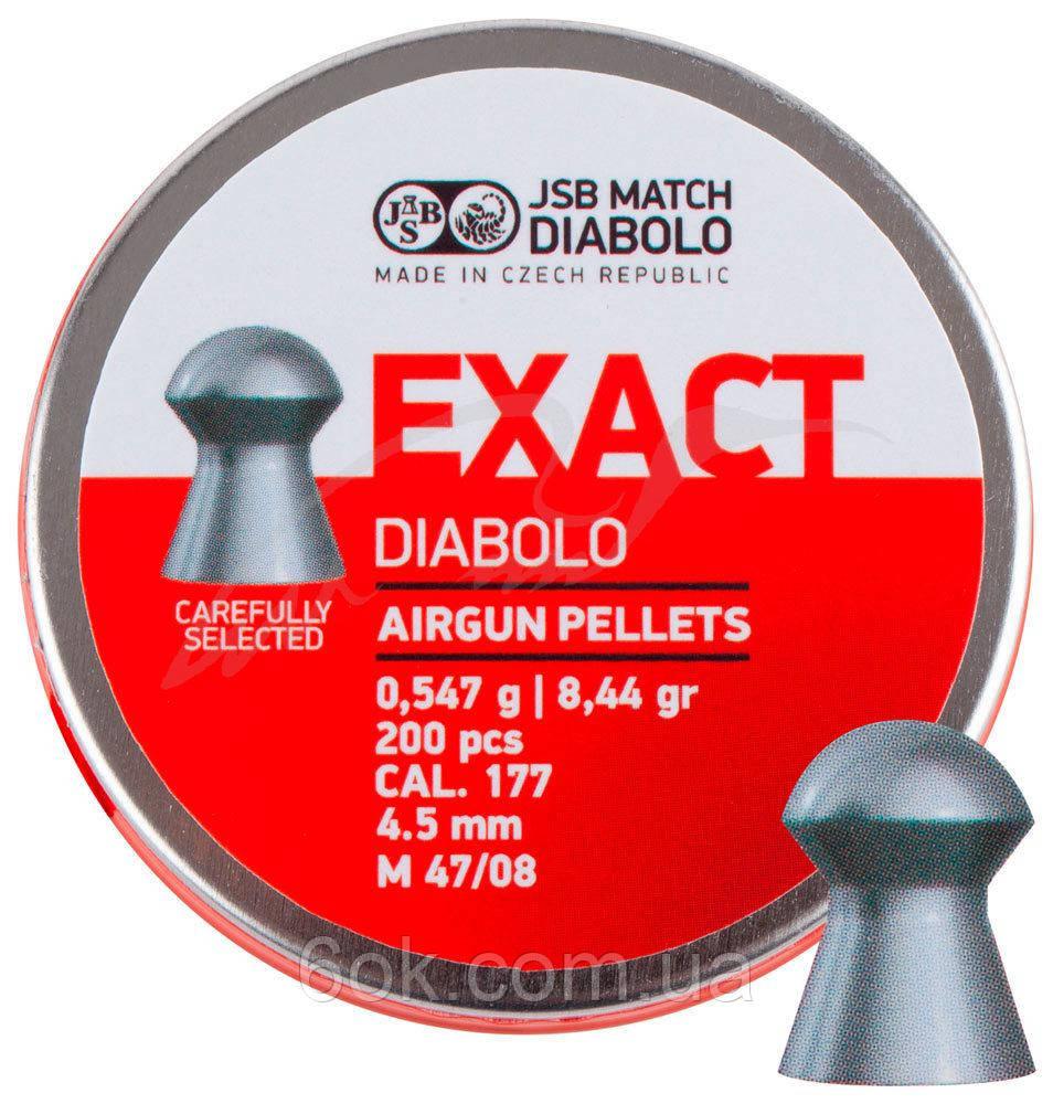 Пули пневм JSB Diablo Exact 4,5 мм 0,547 гр. (200 шт/уп)