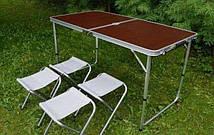 Набор туристический складной, Стол + 4 стула комплект для кемпинга, туризма, сада, фото 3