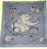 Плед-одеяло для Малыша Двухсторонняя Махра-вельсофт Голубой