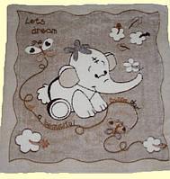 Плед-одеяло для Малыша Двухсторонняя Махра-вельсофт Бежевый