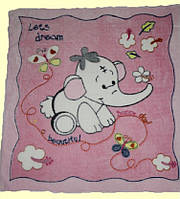 Плед-одеяло для Малыша Двухсторонняя Махра-вельсофт Розовый