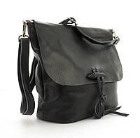 Суперстильная мягкая кожана прочная женская сумка среднего размера GALANTY art. 10490 черная, фото 1