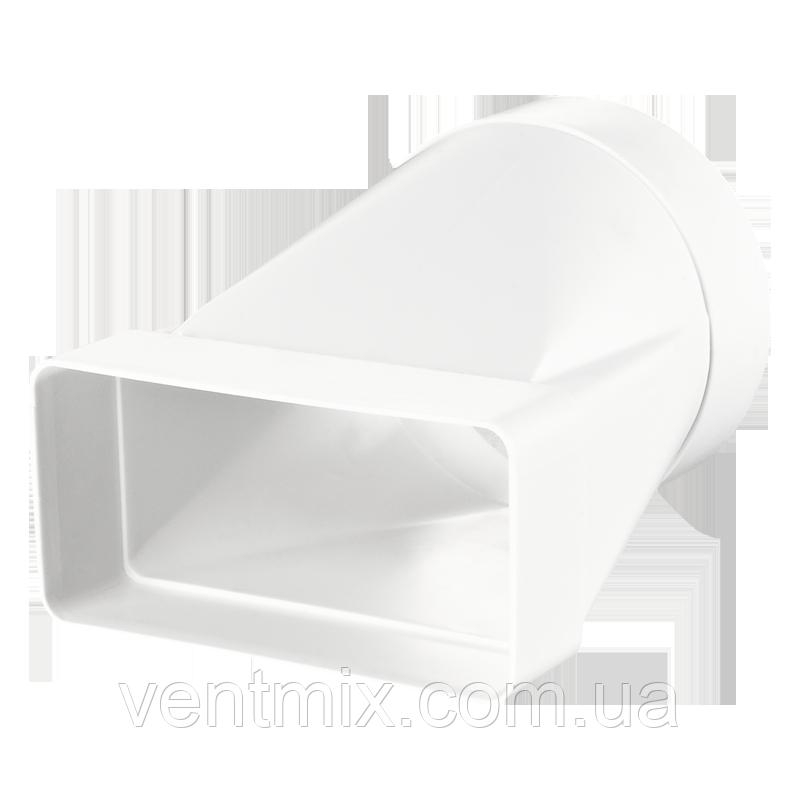 Соединитель 60х120 / d 100 мм для круглых и плоских каналов