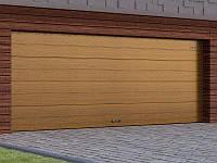 Автоматичні секційні гаражні ворота RSD02 ДОРХАН, DoorHan колір під дерево (Золотий дуб, Венге), фото 1