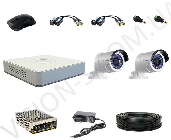 Комплект видеонаблюдения Hikvision 2 out