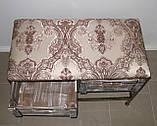 Диван в прихожую кованый на 2 ящика и полку с мягким сиденьем I Диван-тумба №6, фото 3