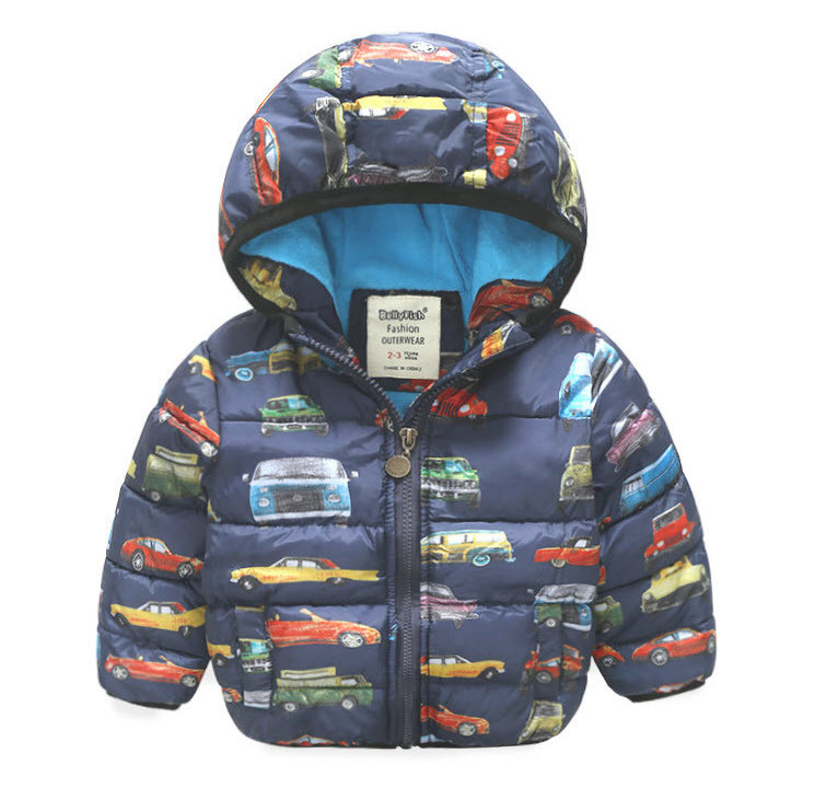 Куртка зимняя на флисе Автопарк (т.син) 140