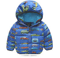 Куртка зимняя на флисе Автопарк (св.син) 100,120,140, фото 1