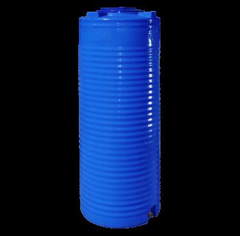 Емкость 500 л узкая, вертикальная,двухслойная