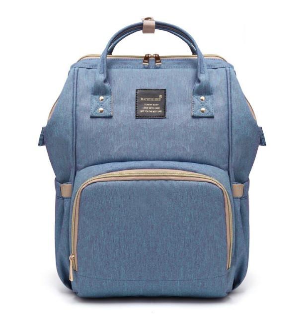 Рюкзак-органайзер для мам і дитячих речей Machine Birds блакитна