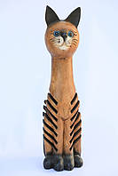 Статуэтка кота тикового, 65 см