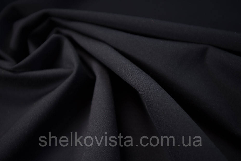 Трикотаж черный пластиковая бижутерия